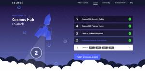 Cosmos Hubのメインネットローンチまでのカウントダウンが開始される