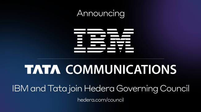 IBMとTata CommunicationsがHedera Hashgraphの運営審議会に参加