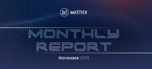 Matrix AI Networkが2019年11月版の活動報告書を公開