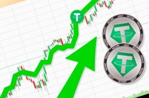 CoinMarketCapの $USDT 時価総額データが未反映か、USDTは数ヶ月で緩やかに時価総額が上昇していた?