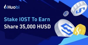 Huobi Globalで $IOST をステーキングすることで35000HUSDが分配