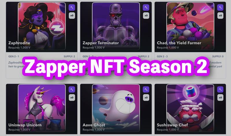 Zapperがクエストのシーズン2を発表、NFTの獲得のチャンス